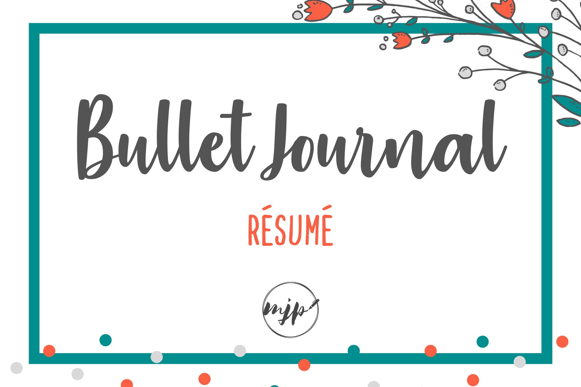 Couverture de l'article Bullet Journal : résumé